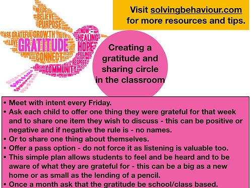 Gratitude and Sharing Circle