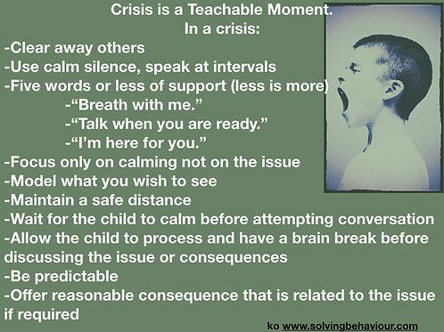 Crisis as a teachable Moment