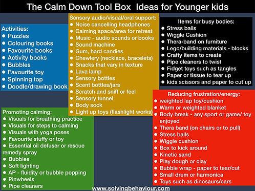 The Calm Down Toolbox for Younger Kids