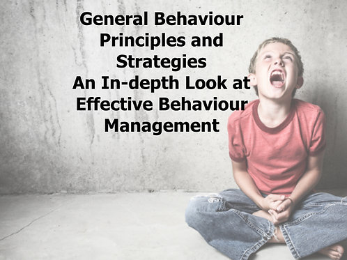 General Principles and Strategies - An In-depth Look at Behaviour Management