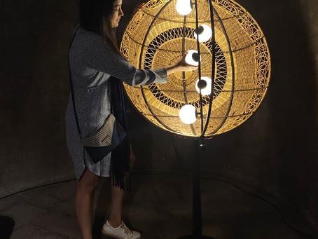 'ORBIT' floor lamp displayed at The Design Gallery, Raw Collaborative, 2018
