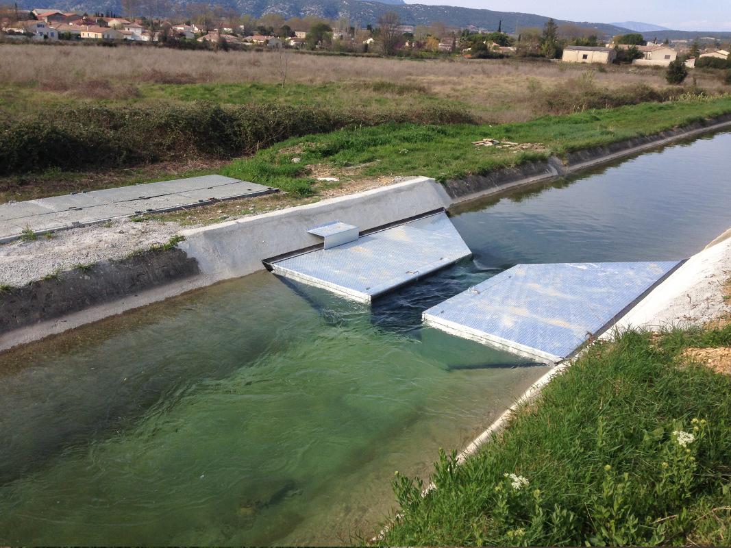 Prise d'eau pour station de pompage.