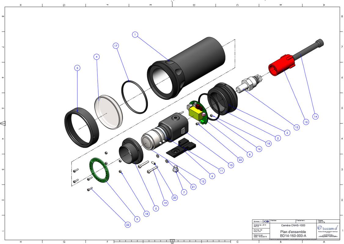 Plan d'ensemble caméra CNHS-1000