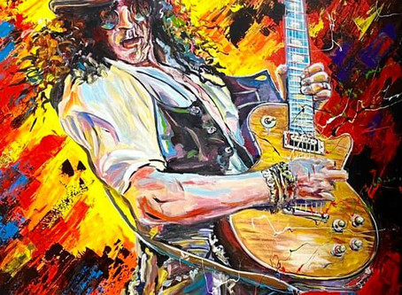 Le guitariste Slash immortaliser par Patrick Larrivée!