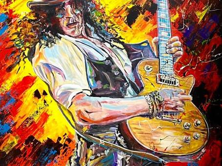 Le guitariste Slash immortaliser par Patrick Larrivée!