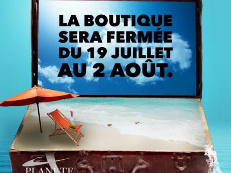 Vacances estivales!