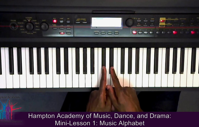 HAMDD Mini-Lesson: Music Alphabet