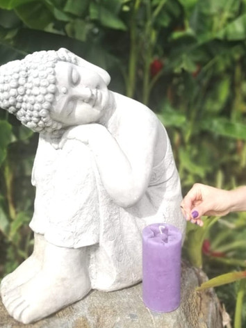 Velones para meditación