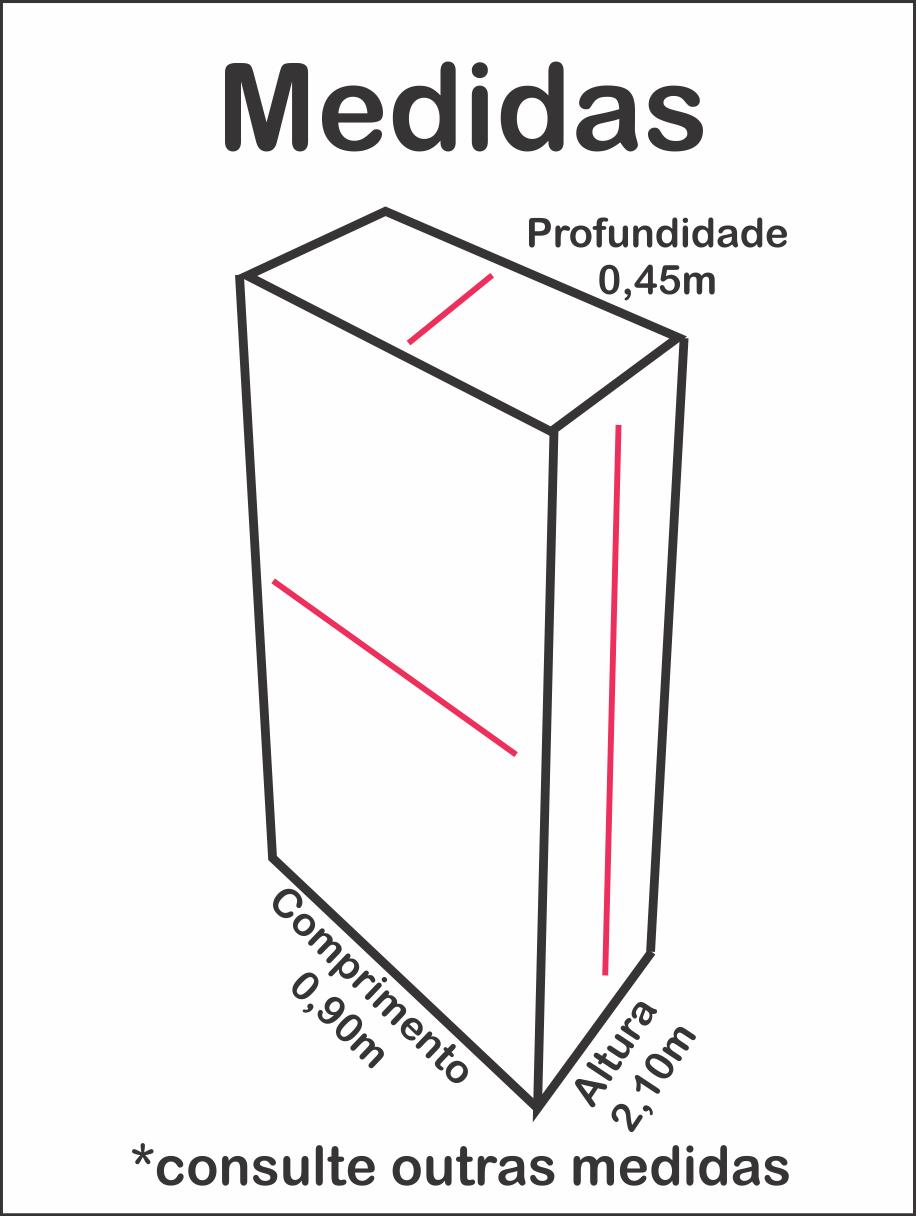 Vitrine frontal de vidro