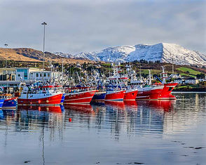 Castletownbere Fishing Boats with now on