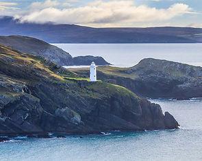 Ardnakenna Lighthouse on the entrance to