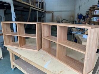 Blackbutt shelves