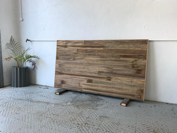 Recycled fence palings bedhead