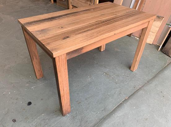 Recycled hardwood desk
