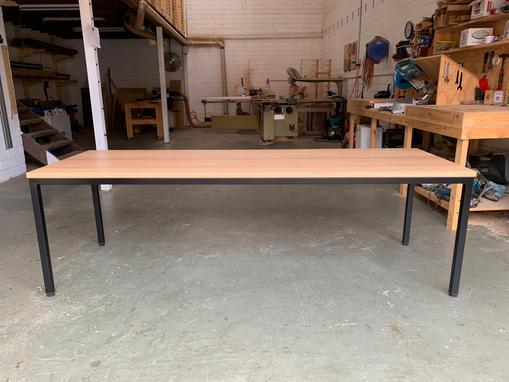 Blackbutt and steel desk