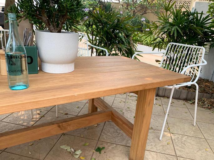 Blackbutt outdoor table