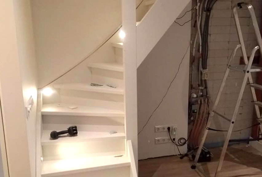 Geheel nieuwe trap in Bussum