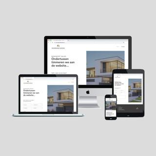 3. Tijdelijke website vormgeving en real