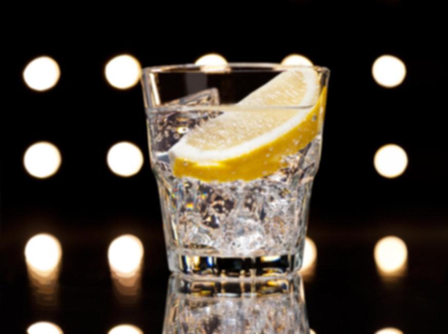 A glass of golovkine vodka