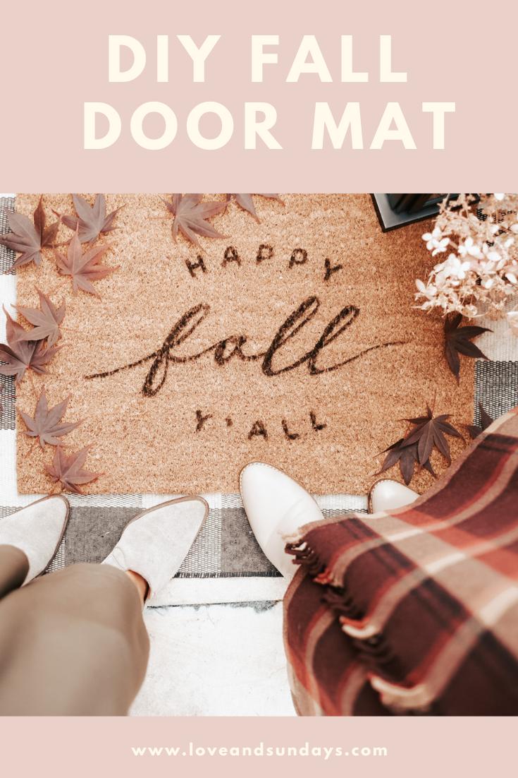 Fall DIY Door Mat