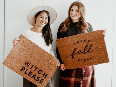 DIY Fall Door Mat + FREE TEMPLATE