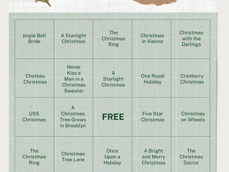 Hallmark Holiday Movie Bingo