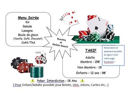 Initiation et Découverte au poker                                       + Banquet