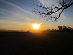"""Sunrise Over Rural Saline County"" Vicky Thomas"