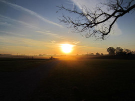 """Sunrise Over Rural Saline County"" Vicky Thomas"