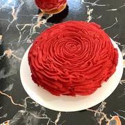 Rose shaped cake.