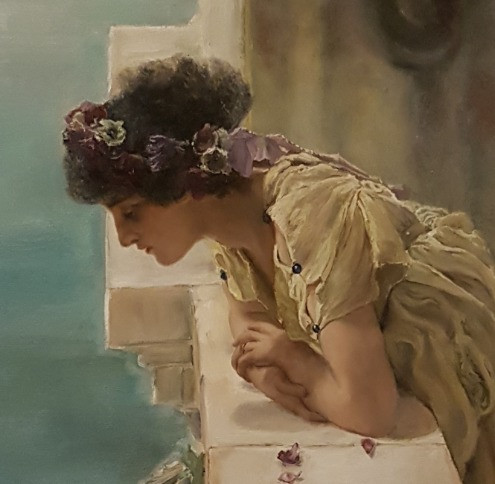 Mastercopy of a section of A Coign of Vantage by Sir Lawrence Alma-Tadema.