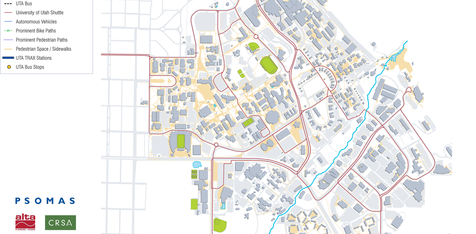 U of U Campus Shuttle Routes