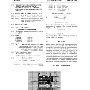 United States Patent Office issues important Water Plant patent.