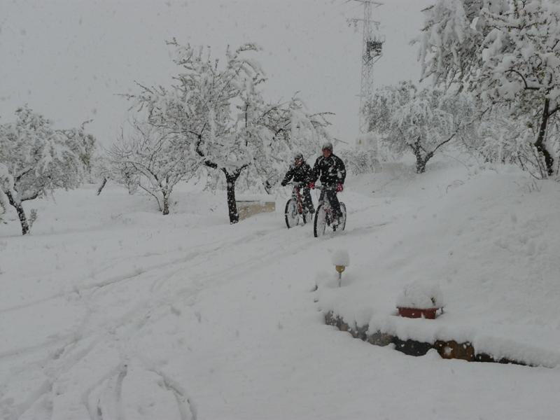 Snow at Cortijo la Estrella