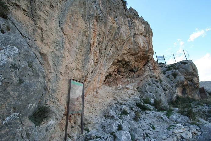 La entrada las cuevas Los Letreros