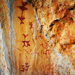 Cave paintings in Los Letreros Caves