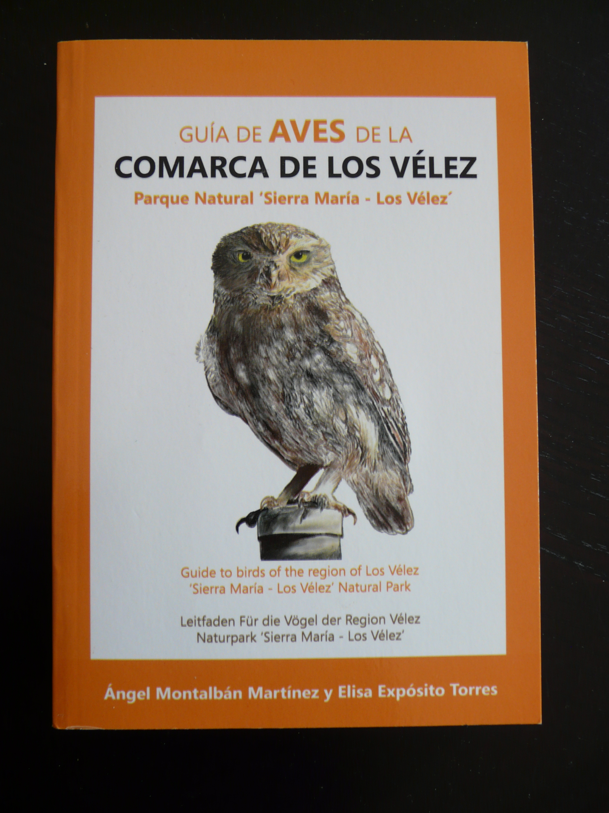 Guide book of the birds of Los Vélez