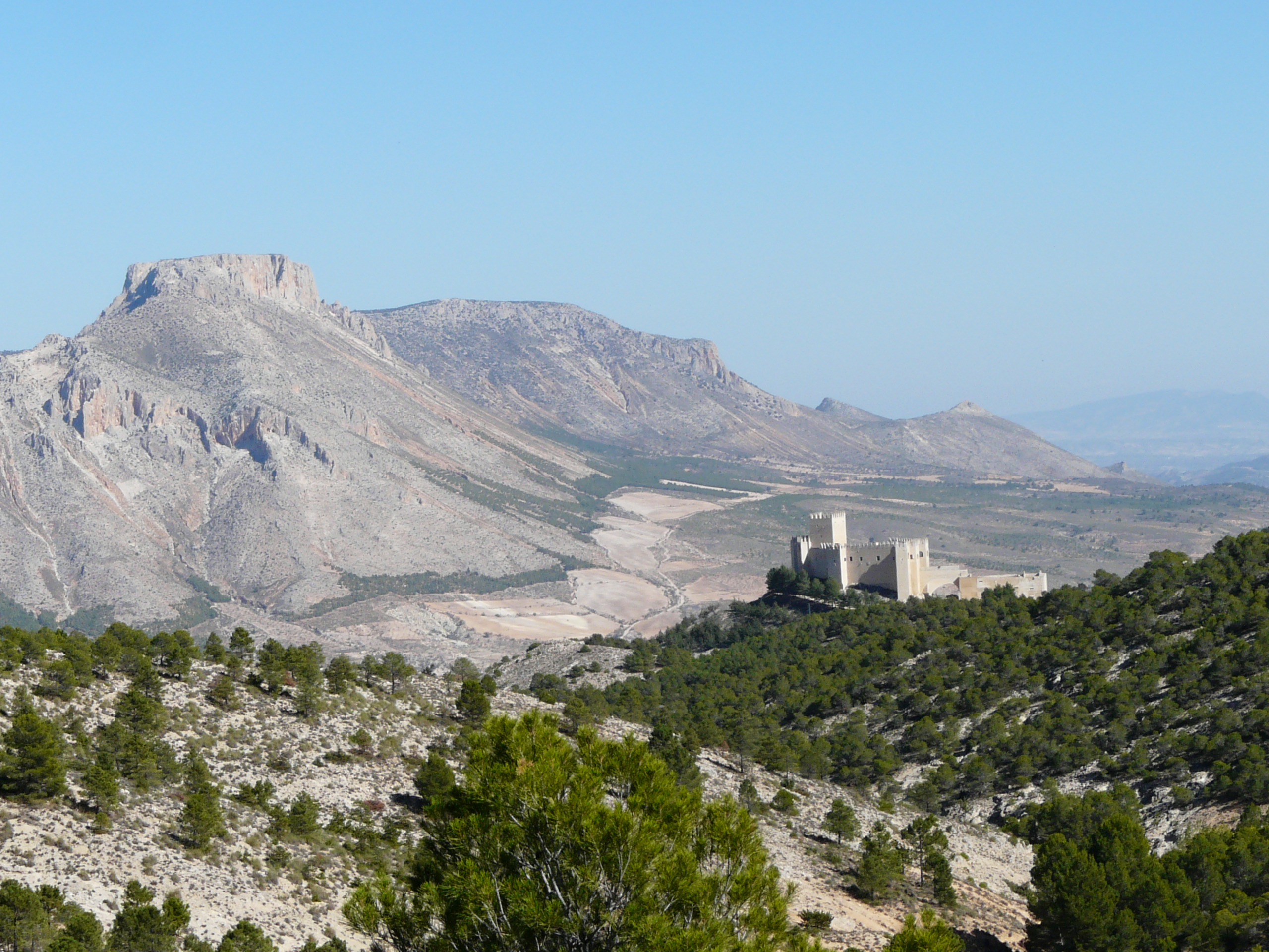 La Muela Mountain and the castle