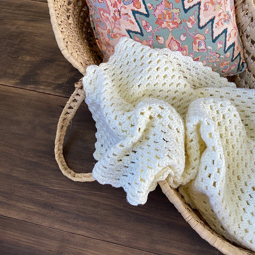 Vintage Muted Lemon Blanket