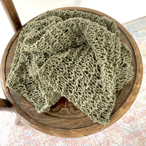 One of a kind Rustic knit layer