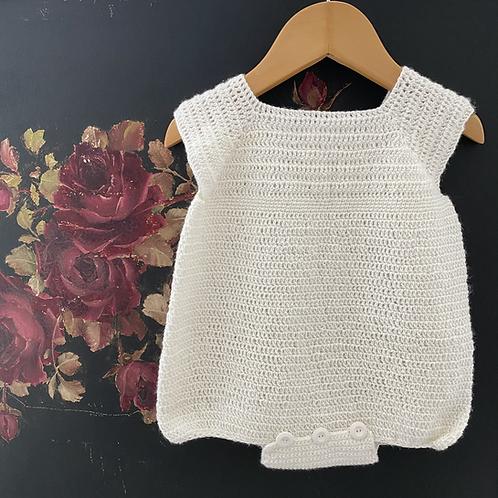 Vintage crochet romper