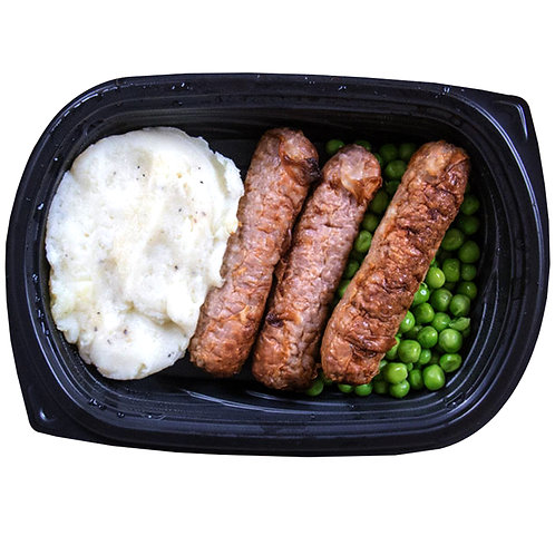 CHICKEN SAUSAGES (white potato & peas)