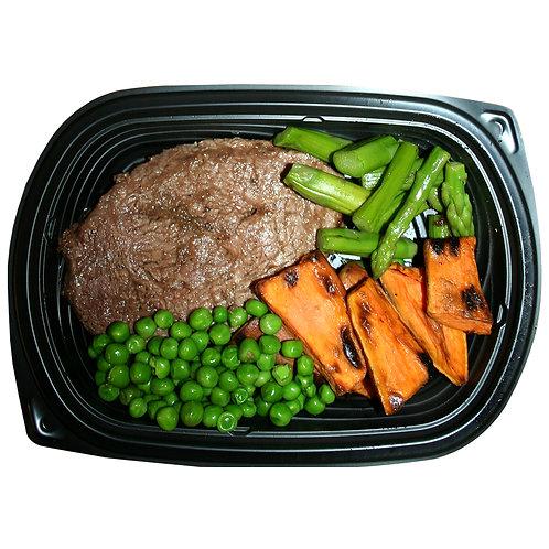 TERIYAKI STEAK (sweat potato fries & asparagus)