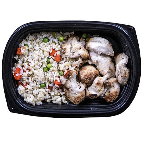 GARLIC CHICKEN (vegetable rice)