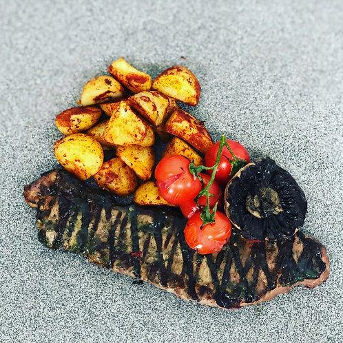 chimichurri Sirloin Steak With Spiced Cube Potatoes