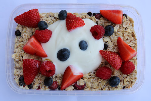 Overnight oats with fruit