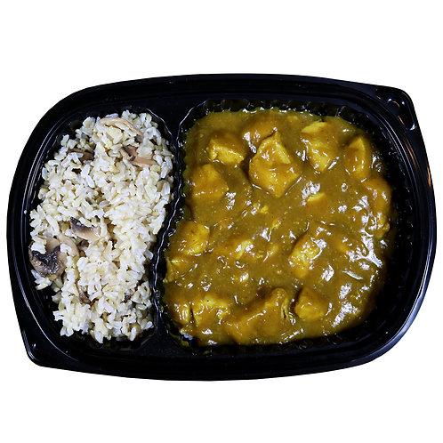 CHICKEN CURRY (mushroom rice)