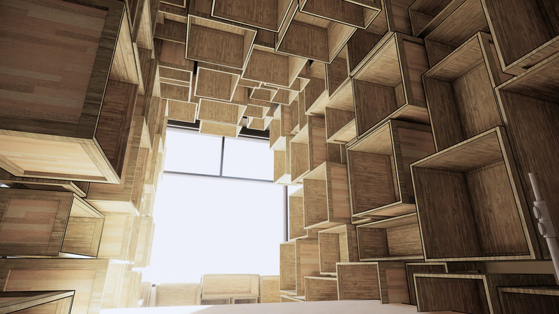 A listening room for a toymaker.  Concept Design San Francisco, CA