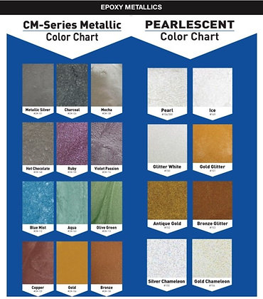 Floor Epoxy Metallics Pack Designed for 3 Gallon Epoxy Kits Sold Separately