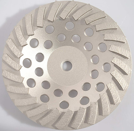"7"" Pro Turbo 24 Segment Diamond Cup Grinding Wheel Grind Concrete Thinset"